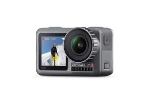 DJI Osmo Action Cam Camera Digitale con Doppio Display 11m Resistente all'Acqua 4K HDR-Video 12MP 145° Angolare Camera Nero
