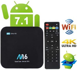 TV Box Android 7.1 - VIDEN Smart TV Box Amlogic S905X Quad-Core, 2GB RAM & 16GB ROM, Video 4K UHD H.265, Bluetooth 4.0, 2 Porte USB, HDMI, WiFi Web TV...