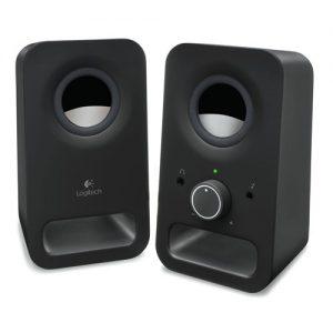 Logitech Z150 Altoparlanti Stereo Multimediali Compatti, Ingresso Audio da 3.5 mm, Controlli Integrati, Jack Per Cuffie,...