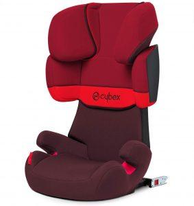 Cybex Silver Solution X-Fix, Seggiolino Auto per Bambini, Gruppo 2/3/15-36 kg, da 3 fino a 12 Anni Circa, per Auto Con e Senza ISOFIX, Rosso/Rumba Red/Red