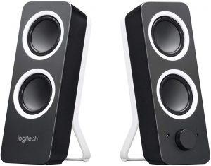 Logitech Z200 Altoparlanti per PC, Audio Stereo Completo, 10 Watt, 2 Ingressi Audio 3.5 mm, Jack per Cuffie, Bassi Regolabili, Controllo Volume, Presa...