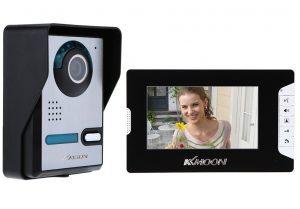 KKmoon, Kit Videocitofono, Video Campanello, Citofono Videocitofono, 7 Pollici TFT LCD Citofono con Telecamera Visione Notturna IR Impermeabile per la...