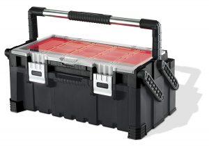 Cassetta porta utensili Cantilever Pro Tool Box colore: rosso / grigio