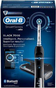 Oral-B Black 7000 CrossAction Spazzolino Elettrico con Connettività Bluetooth, Nero