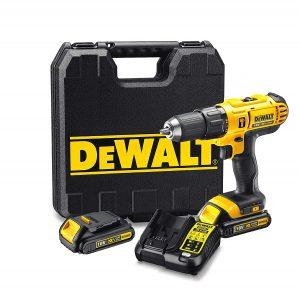 DeWalt DCD776C2-QW Trapano Avvitatore, 2 velocità a Percussione, 1.3 Ah, con Doppia Batteria in Valigetta, 18 V