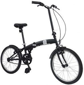 """Bici Pieghevole Ruote 20"""" Nero Opaco Dimensioni Chiusa 65x82,5x35 cm"""