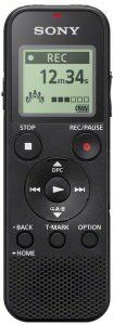 Sony ICD-PX370   Registratore digitale mono, Optimized Voice Rec, Altoparlante integrato, Jack Cuffie e Microfono, Memoria 4GB + Slot microSD, USB integrato...