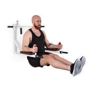 Klarfit Bouncer Multigym - Stazione Fitness Multifunzione, per Pull Up e Dip, 8 Prese, Imbottita, Espandibile, Fino a 200 kg, incl. Kit di Montaggio, Nero