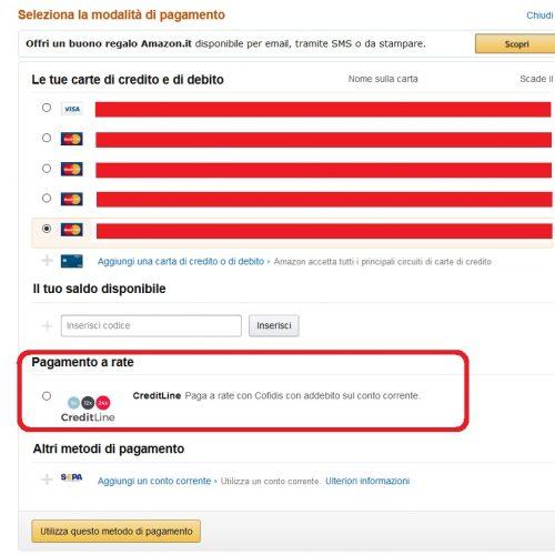 Amazon cofidis creditline